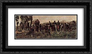 Prince Amadeo Feritio at Custoza 24x14 Black or Gold Ornate Framed and Double Matted Art Print by Giovanni Fattori