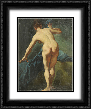 Nudo femminile 20x24 Black or Gold Ornate Framed and Double Matted Art Print by Giulia Lama