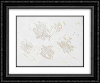 Arcipelago 24x20 Black or Gold Ornate Framed and Double Matted Art Print by Giulio Turcato