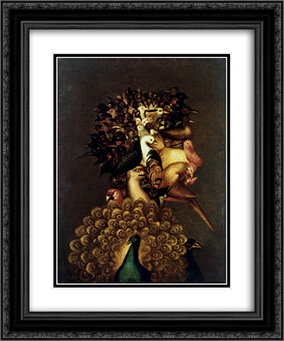 Air 20x24 Black or Gold Ornate Framed and Double Matted Art Print by Giuseppe Arcimboldo