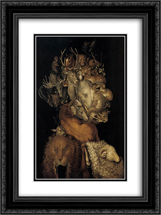 Earth 18x24 Black or Gold Ornate Framed and Double Matted Art Print by Giuseppe Arcimboldo