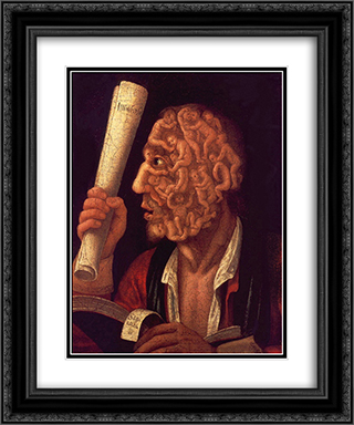 Portrait of Adam 20x24 Black or Gold Ornate Framed and Double Matted Art Print by Giuseppe Arcimboldo