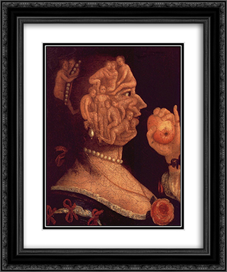 Portrait of Eve 20x24 Black or Gold Ornate Framed and Double Matted Art Print by Giuseppe Arcimboldo
