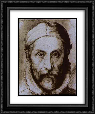 Self-Portrait 20x24 Black or Gold Ornate Framed and Double Matted Art Print by Giuseppe Arcimboldo