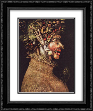 Summer 20x24 Black or Gold Ornate Framed and Double Matted Art Print by Giuseppe Arcimboldo