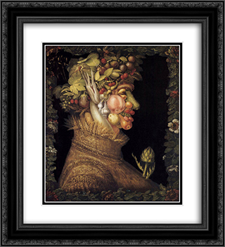 Summer 20x22 Black or Gold Ornate Framed and Double Matted Art Print by Giuseppe Arcimboldo