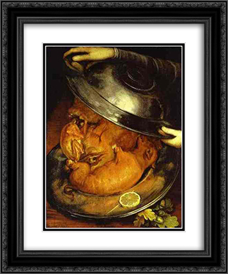 The Dinner 20x24 Black or Gold Ornate Framed and Double Matted Art Print by Giuseppe Arcimboldo