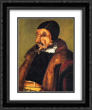 The Lawyer 20x24 Black or Gold Ornate Framed and Double Matted Art Print by Giuseppe Arcimboldo