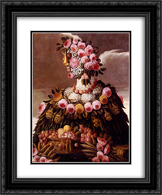 The Seasons 20x24 Black or Gold Ornate Framed and Double Matted Art Print by Giuseppe Arcimboldo