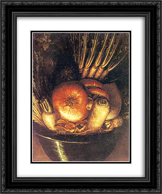 The Vegetable Bowl 20x24 Black or Gold Ornate Framed and Double Matted Art Print by Giuseppe Arcimboldo
