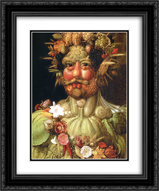 Vertumnus (Emperor Rudolph II) 20x24 Black or Gold Ornate Framed and Double Matted Art Print by Giuseppe Arcimboldo