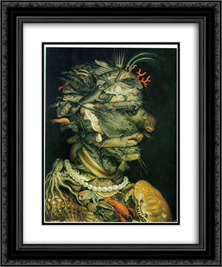 Water 20x24 Black or Gold Ornate Framed and Double Matted Art Print by Giuseppe Arcimboldo