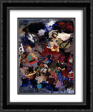 Drunkenness in Verdun 20x24 Black or Gold Ornate Framed and Double Matted Art Print by Giuseppe Pinot Gallizio