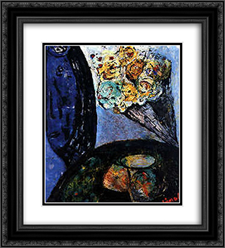 Peggy's Bunch 20x22 Black or Gold Ornate Framed and Double Matted Art Print by Giuseppe Pinot Gallizio