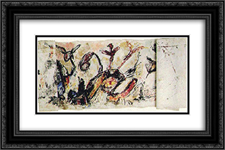 The Siren and the Pirate 24x16 Black or Gold Ornate Framed and Double Matted Art Print by Giuseppe Pinot Gallizio