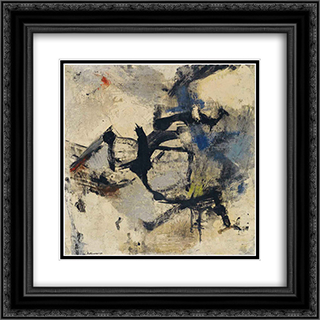 Bianco e nero di Spagna 20x20 Black or Gold Ornate Framed and Double Matted Art Print by Giuseppe Santomaso
