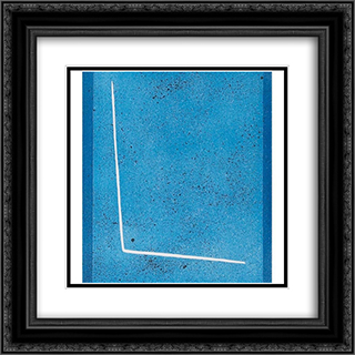 Blue Space 20x20 Black or Gold Ornate Framed and Double Matted Art Print by Giuseppe Santomaso