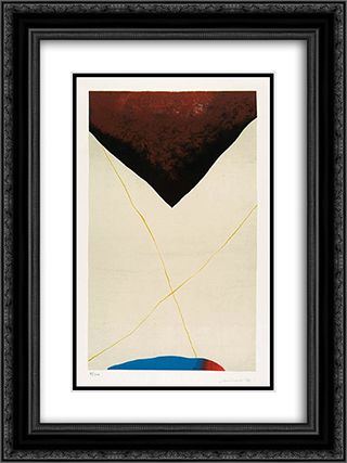 Dall´alto al Basso 18x24 Black or Gold Ornate Framed and Double Matted Art Print by Giuseppe Santomaso