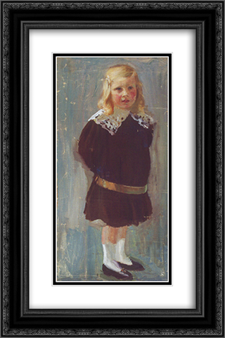 First portrait 16x24 Black or Gold Ornate Framed and Double Matted Art Print by Goldstein Grigoriy