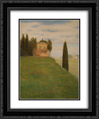 House in the park 20x24 Black or Gold Ornate Framed and Double Matted Art Print by Goldstein Grigoriy