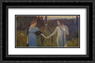 Idyll 24x16 Black or Gold Ornate Framed and Double Matted Art Print by Goldstein Grigoriy