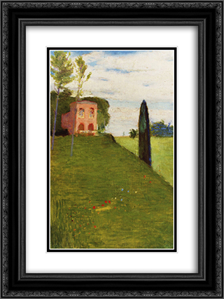 Mansion 18x24 Black or Gold Ornate Framed and Double Matted Art Print by Goldstein Grigoriy