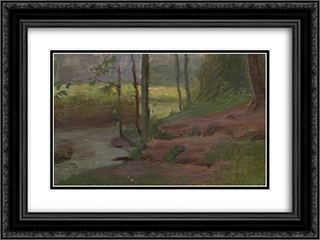 Sunbeam 24x18 Black or Gold Ornate Framed and Double Matted Art Print by Goldstein Grigoriy