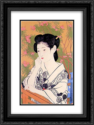 Hot Spring Hotel 18x24 Black or Gold Ornate Framed and Double Matted Art Print by Goyo Hashiguchi