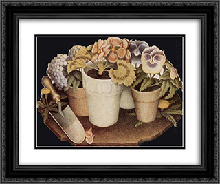 Cultivation of Flower 24x20 Black or Gold Ornate Framed and Double Matted Art Print by Grant Wood