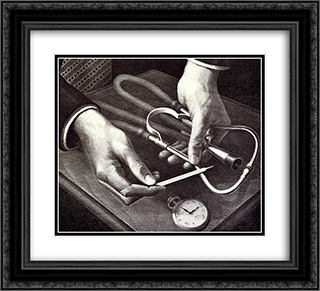 Family Doctor 22x20 Black or Gold Ornate Framed and Double Matted Art Print by Grant Wood