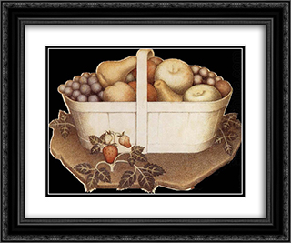 Fruit 24x20 Black or Gold Ornate Framed and Double Matted Art Print by Grant Wood