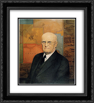 John B. Turner, Pioneer 20x22 Black or Gold Ornate Framed and Double Matted Art Print by Grant Wood