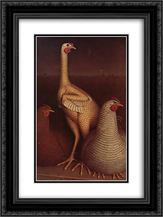 Puberty 18x24 Black or Gold Ornate Framed and Double Matted Art Print by Grant Wood