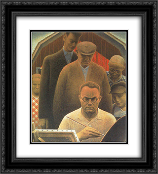 Return From Bohemia 20x22 Black or Gold Ornate Framed and Double Matted Art Print by Grant Wood