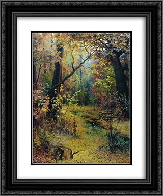 Autumn Morning 20x24 Black or Gold Ornate Framed and Double Matted Art Print by Grigoriy Myasoyedov