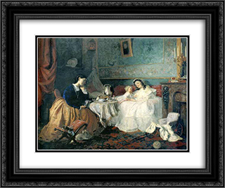 By happiness of others (Two fates) 24x20 Black or Gold Ornate Framed and Double Matted Art Print by Grigoriy Myasoyedov