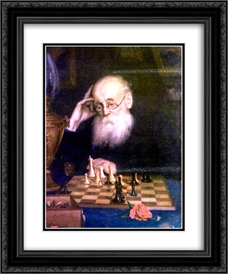 Portrait of chess player A. D. Petrova 20x24 Black or Gold Ornate Framed and Double Matted Art Print by Grigoriy Myasoyedov