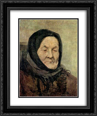Portrait of old woman 20x24 Black or Gold Ornate Framed and Double Matted Art Print by Grigoriy Myasoyedov