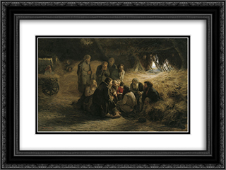 Reading of the 1861 Manifesto 24x18 Black or Gold Ornate Framed and Double Matted Art Print by Grigoriy Myasoyedov