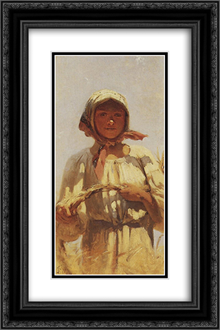 Reaper 16x24 Black or Gold Ornate Framed and Double Matted Art Print by Grigoriy Myasoyedov
