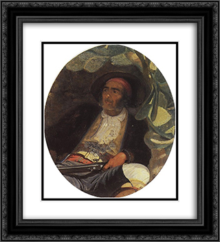 Spaniard 20x22 Black or Gold Ornate Framed and Double Matted Art Print by Grigoriy Myasoyedov
