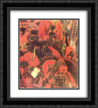 Orfeu nos Infernos (detail) 20x22 Black or Gold Ornate Framed and Double Matted Art Print by Guilherme de Santa Rita