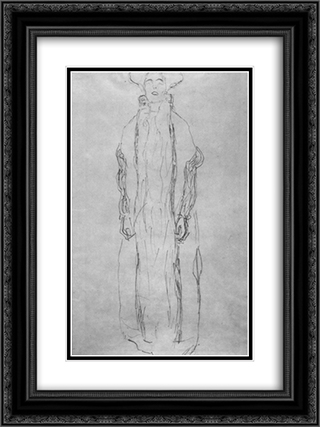 Adele Bloch-Bauer 18x24 Black or Gold Ornate Framed and Double Matted Art Print by Gustav Klimt