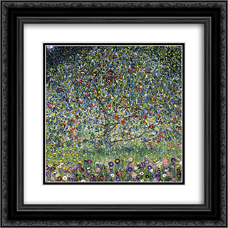 Apple Tree, I 20x20 Black or Gold Ornate Framed and Double Matted Art Print by Gustav Klimt