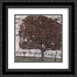 Apple Tree II 20x20 Black or Gold Ornate Framed and Double Matted Art Print by Gustav Klimt
