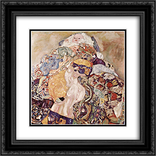Baby 20x20 Black or Gold Ornate Framed and Double Matted Art Print by Gustav Klimt