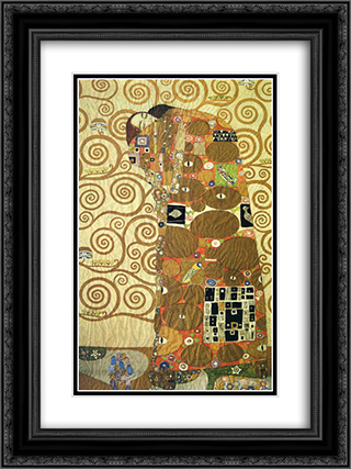 Cartoon for the Frieze of the Villa Stoclet in Brussels Fulfillment 18x24 Black or Gold Ornate Framed and Double Matted Art Print by Gustav Klimt