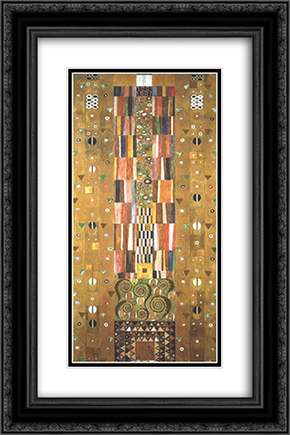 Design for the Stocletfries 16x24 Black or Gold Ornate Framed and Double Matted Art Print by Gustav Klimt