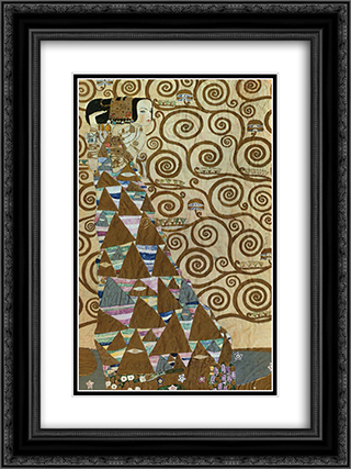 Expectation 18x24 Black or Gold Ornate Framed and Double Matted Art Print by Gustav Klimt
