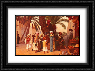A Tale of 1001 Nights 24x18 Black or Gold Ornate Framed and Double Matted Art Print by Gustave Boulanger